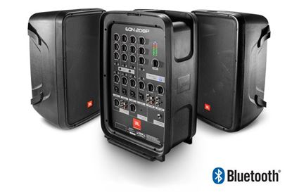 "JBL EON 208P Packaged 8"" 2-Way PA System (w Powered 8-Channel Mixer and Bluetooth)"
