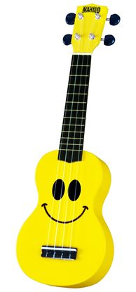 Mahalo Art Series Ukulele - Smiley Face