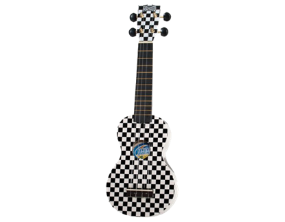Mahalo Art Series Ukulele - Black & White Checks