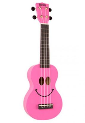 Mahalo Art Series Ukulele - Pink Smiley Face