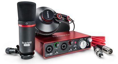 Picture of Focusrite ScarlettStudio 2i2 2nd Gen Audio Interface with Studio Mic and Headphones
