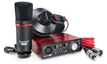 Focusrite Scarlett Solo Studio Bundle 2nd Gen Audio Interface with Studio Mic and Headphones