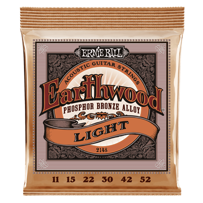 Ernie Ball E2148 11-52 Acoustic Guitar Strings Light Phosphor Bronze