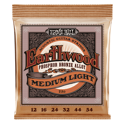 Ernie Ball E2146 12-54 Acoustic Guitar Strings Medium Light Phosphor Bronze