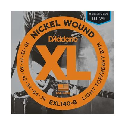 D'Addario EXL140-8 8-String Electric Guitar Strings 10-74 Light Top/Heavy Bottom