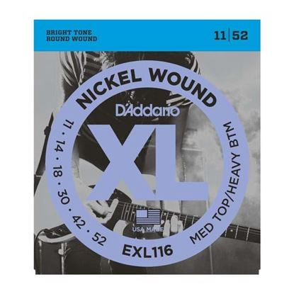 D'Addario EXL116 Electric Guitar Strings 11-52 Medium Top/Heavy Bottom
