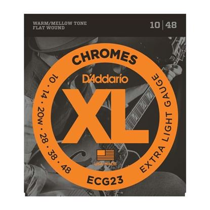 D'Addario ECG23 Electric Guitar Strings 10-48 Chromes Flat Wound Extra Light