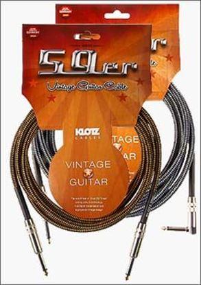 Klotz 59'er Vintage Guitar Cable 6m Tweed/Gold Tip - Straight