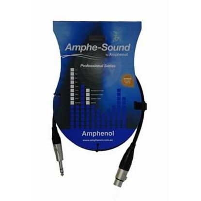 Amphe-Sound 1m Female XLR - 6.35mm Jack (TRS) Cable (1)