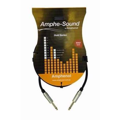Amphenol 1m Jack-Jack Guitar/Instrument Cable