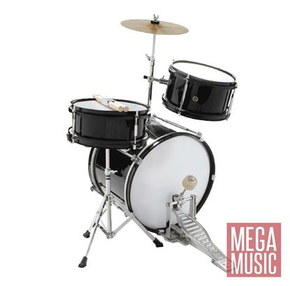 DXP Junior Series 3-piece Drum Kit - Black (TXJ3BK)