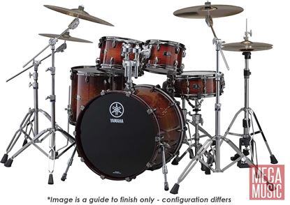Yamaha Live Custom Euro Shell Pack Drum Kit in Amber Shadow Sunburst