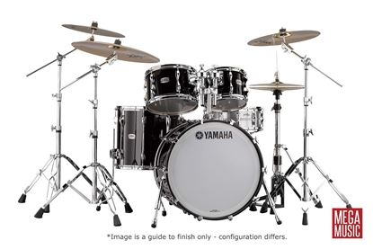 Yamaha Recording Custom Euro Drum Kit Shell Pack in Solid Black Lacquer