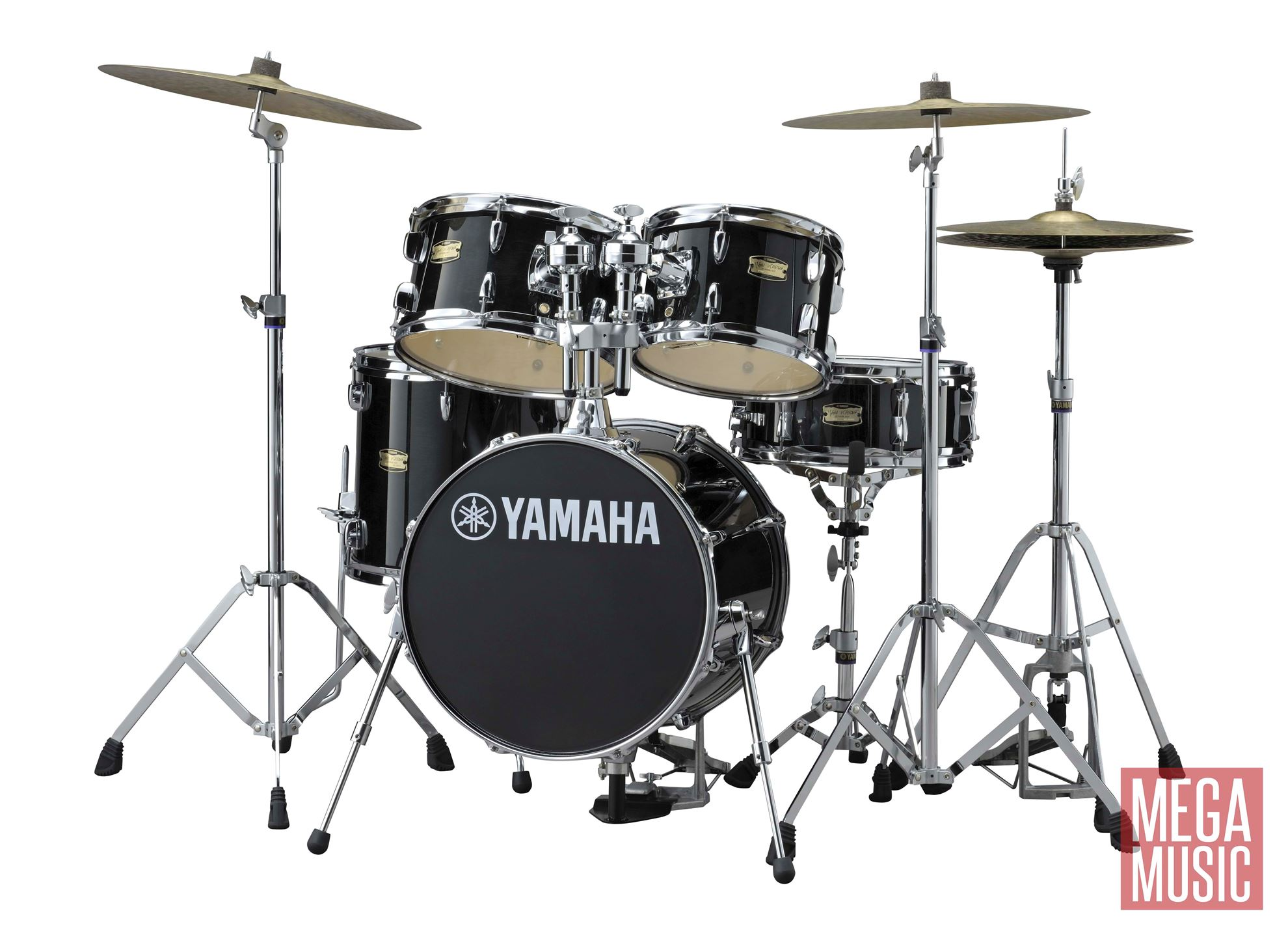 Yamaha manu katche junior drum kit in raven black lacquer for Yamaha portable drums