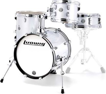 Ludwig Breakbeats Drum Kit Shell Pack - White Sparkle