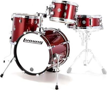 Ludwig Breakbeats Drum Kit Shell Pack - Wine Red Sparkle