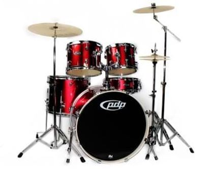PDP Mainstage 5-piece Drum Kit with Hardware/Cymbals - Candy Apple Red