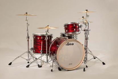 Ludwig Keystone Powerbeat 3-piece Drum Kit - Red Oyster Pearl