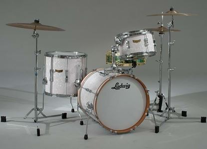 Ludwig Club Date DownBeat 3-piece Drum Shell Pack - White Marine Pearl