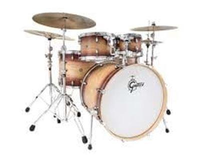 Gretsch Catalina Ash Series 5-piece Drum Kit - Walnut to Natural to Walnut Burst
