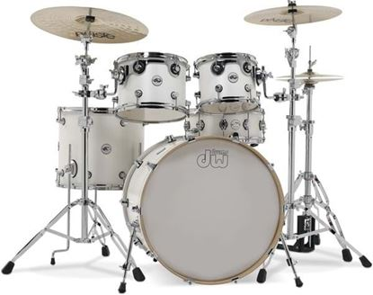 DW Design Series 5-Piece Maple Drum Kit - White
