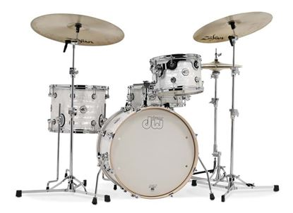 Picture of DW Concept Series Frequent Flyer 4-piece Drum Kit - White Onyx