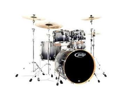Picture of DW Concept Series 5-piece Maple Drum Kit - Silver to Black Sparkle Fade