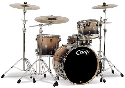 Picture of DW Concept Series 5-piece Birch Drum Kit - Natural to Charcoal Fade