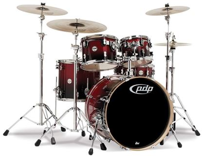 Picture of DW Concept Series 5-piece Birch Drum Kit - Cherry to Black Fade