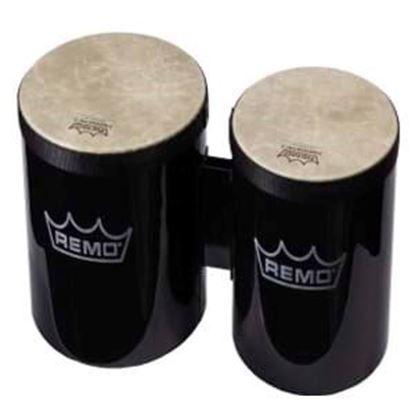 Remo Pre-Tuned 6 Inch & 7 Inch Bongos - Black