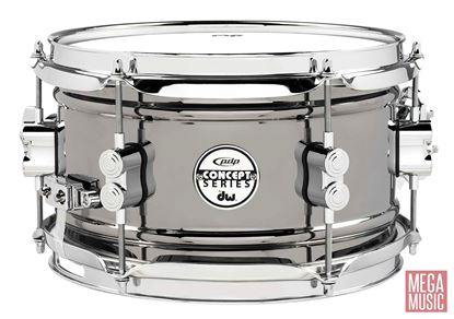 PDP Concept Series 10x6 inch Black Nickel over Steel Snare Drum