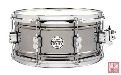 PDP Concept Series 13x6.5 inch Black Nickel over Steel Snare Drum