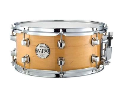 Mapex MPX 13x6 inch Maple Snare Drum Gloss Natural Chrome Hardware