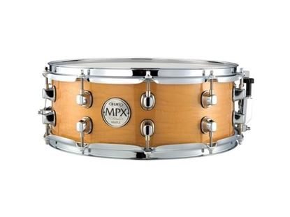 Mapex MPX 14x5.5 inch Maple Snare Drum Gloss Natural Chrome Hardware