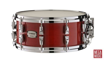 Yamaha Absolute Hybrid Maple 14x6 inch Snare Drum Red Autumn Front