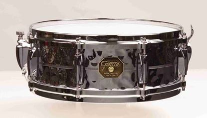 "Picture of Gretsch Custom Series Hammered Chrome over Brass 14 x 5"" Snare Drum"