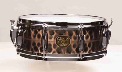 "Gretsch Custom Series Hammered Antique Copper 14 x 5"" Snare"