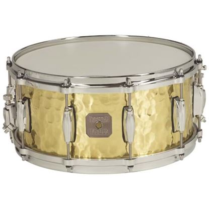 "Picture of Gretsch Full Range Hammered Polished Brass 14x5"" Snare Drum"