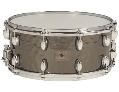 "Picture of Gretsch Full Range Hammered Black Brass 14x5"" Snare Drum"