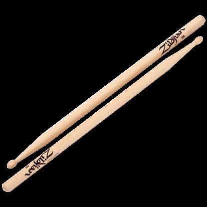 Picture of Zildjian 2B Wood Tip Natural Drumsticks