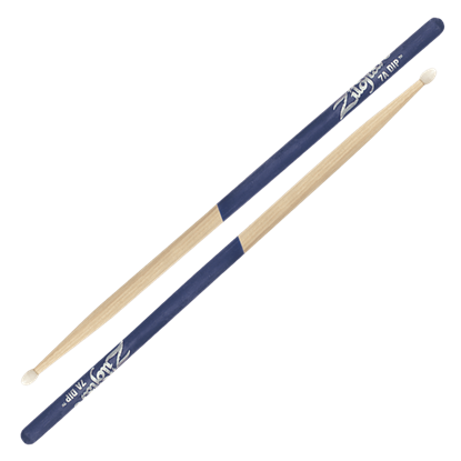Zildjian 7A Nylon Tip Purple Dip Drumsticks