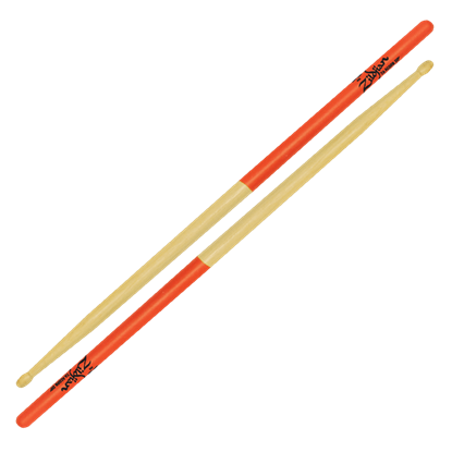 Zildjian 7A Acorn Wood Tip Orange Dip