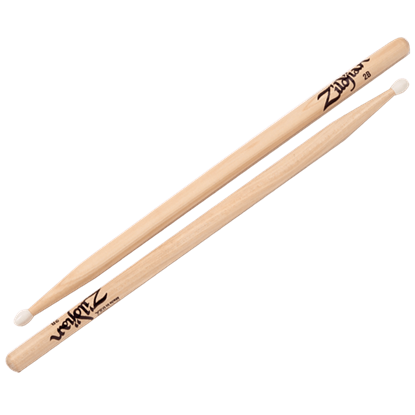 Zildjian 2B Nylon Tip Natural Drumsticks