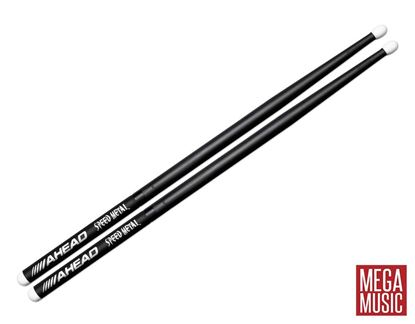 Ahead JJ1 Speed Metal Drumsticks - Nylon Tip