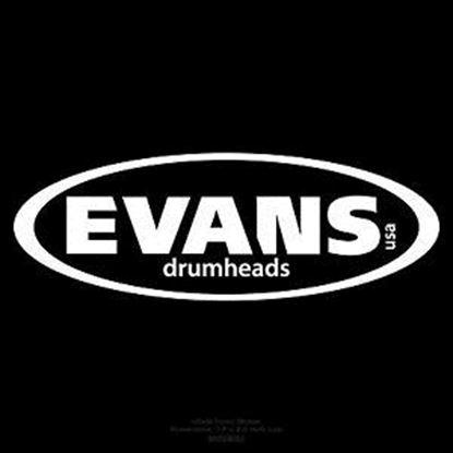 Evans 14 Inch Power Center Reverse Dot Coated Black Drum Head