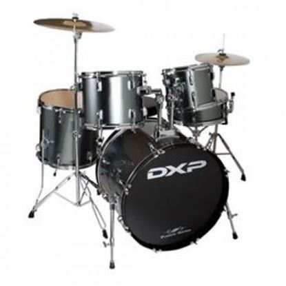 DXP Fusion 20 Drum Kit Package - Gun Metal Grey