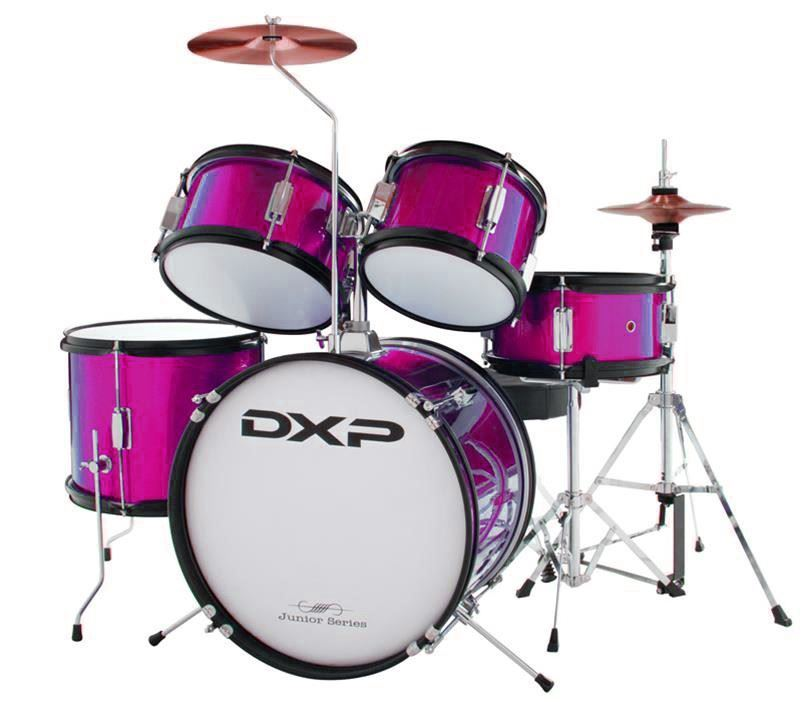 dxp junior series 5 piece drum kit pink txj5pk perth mega