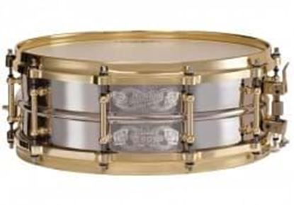 Picture of Ludwig LB454AKS Special Edition Standard 2pc Brass Shell Nickel Plated Snare Drum