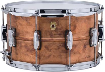 Picture of Ludwig LC608R USA Copperphonic 8x14 Inch Imperial Lugs Snare Drum - Raw Shell