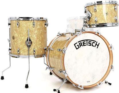 Picture of Gretsch Standard Broadkaster 3-Piece w 22 Inch Kick Heritage Drumkit - Antique Pearl